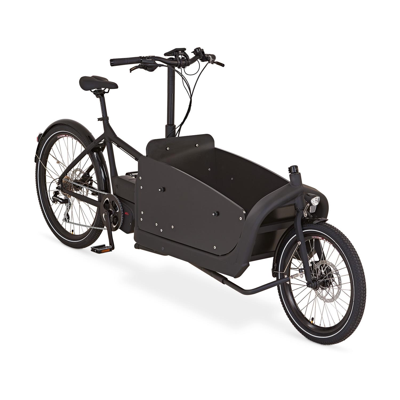 Prophete Alu-Elektro-Lastenrad »Zweirad«, Schwarz