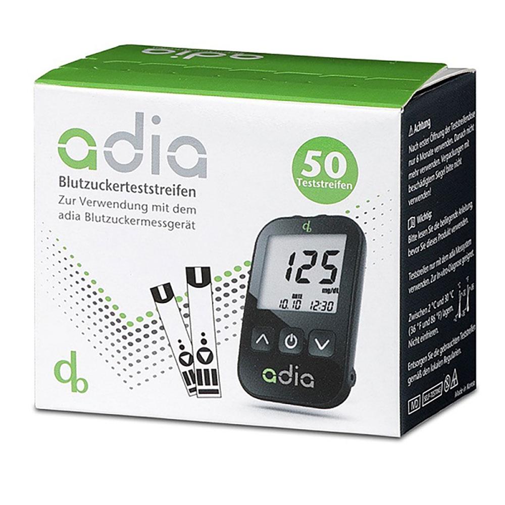 adia Blutzuckerteststreifen - 50 Stück