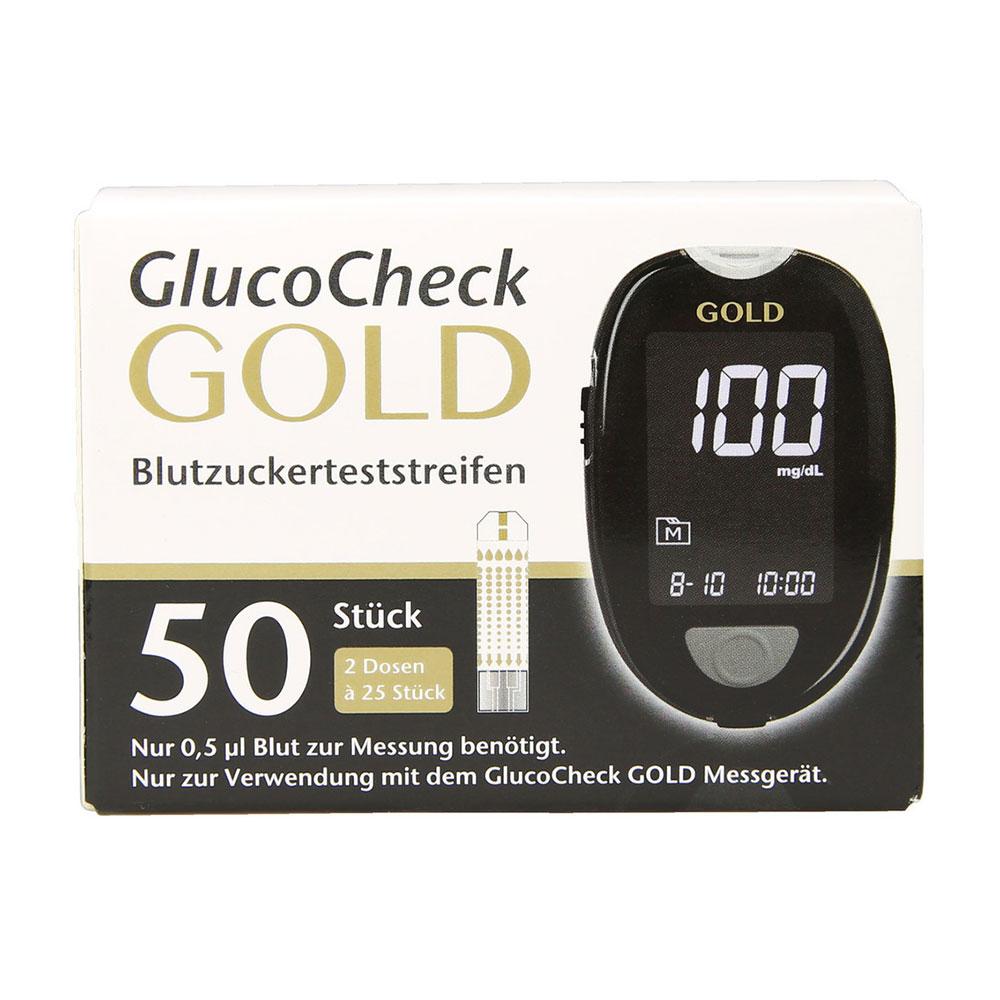 Messen Sie Ihren Blutzuckerspiegel mit diesen Teststreifen noch verlässlicher - passend zum GlucoCheck GOLD Blutzuckermessgerät.