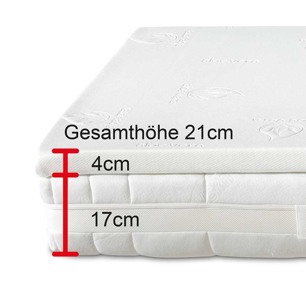 2teiliges orthopädisches Schlafsystem mit komfortabler Visko-Auflage