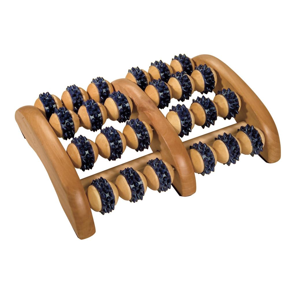Mit dem Fußmassageroller genießen Sie erholsame Massagen und stimulieren sanft die Fußreflexzonen.