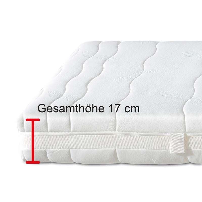 Die Matratze ist leicht zu wenden und zu beziehen.